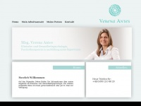 verena-antes.at Webseite Vorschau
