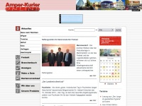 amper-kurier.de Webseite Vorschau