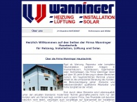 wanninger-haustechnik.de Webseite Vorschau