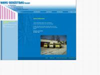 wans-geruestbau.de Webseite Vorschau