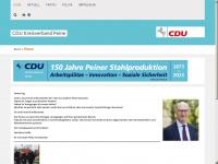 cdu-peine.de Webseite Vorschau