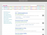 xca.de Webseite Vorschau