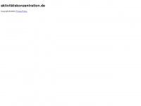 aktivitätskonzentration.de Webseite Vorschau