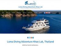 loma-diving.com Webseite Vorschau