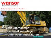 wansor.de Webseite Vorschau