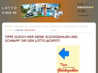 lotto4y.de Webseite Vorschau