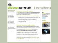 kik-berufsbildung.org Webseite Vorschau
