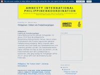 amnesty-philippinen.blogspot.com Webseite Vorschau
