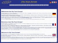 citytours-europe.com Webseite Vorschau