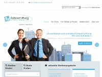 1a-aerztevermittlung.de Webseite Vorschau