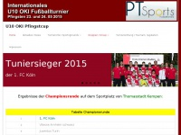 u10-turnier.de Webseite Vorschau