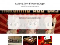 zuwenig.com Webseite Vorschau