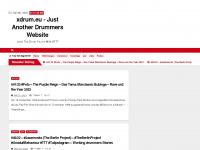 xdrum.eu Webseite Vorschau