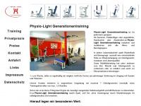 physio-light.de Webseite Vorschau