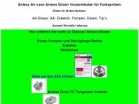 air-less.eu Webseite Vorschau
