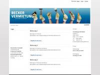 vermietung-becker.de Webseite Vorschau