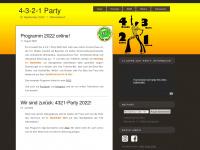 4321-party.de Webseite Vorschau