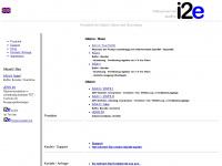 i2e-audio.de Webseite Vorschau