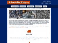 schrottabholung.org Webseite Vorschau