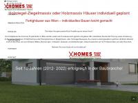 xhomes.at Webseite Vorschau