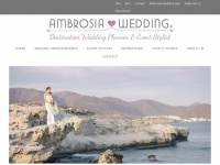 ambrosia-wedding.com Webseite Vorschau