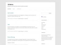 18worte.wordpress.com Webseite Vorschau
