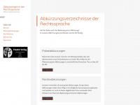 abkuerzungen.xyz Webseite Vorschau