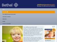 kinder-bethel.de Webseite Vorschau