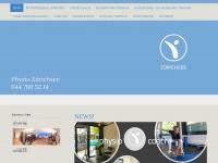 physiotherapiezuerichsee.com Webseite Vorschau