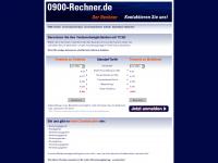 0900-rechner.de Webseite Vorschau