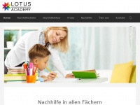nachhilfe-lotusacademy.ch Webseite Vorschau
