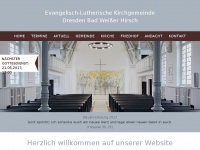 kirche-weisser-hirsch.de Webseite Vorschau