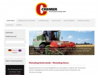 cremer-beschichtungstechnologie.de Webseite Vorschau