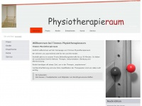 physiotherapieraum.de Webseite Vorschau