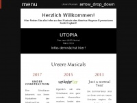 amg-musical.de Webseite Vorschau