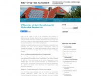 photovoltaik-ratgeber.info Webseite Vorschau