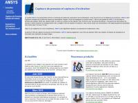amsys-sensor.eu Webseite Vorschau