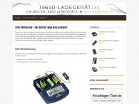 18650-ladegerät.de Webseite Vorschau