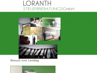 loranth.at Webseite Vorschau