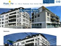 physiotop.ch Webseite Vorschau
