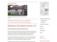 kirchbauverein-bielen.de Webseite Vorschau