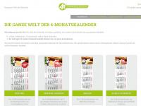 4-monatskalender.de Webseite Vorschau
