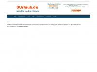 0urlaub.de Webseite Vorschau