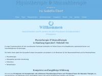 physiotherapie-iraebert.de Webseite Vorschau