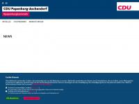 cdu-papenburg.de Webseite Vorschau