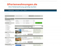 0ferienwohnungen.de Webseite Vorschau