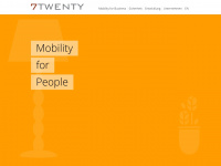 7twenty.at Webseite Vorschau