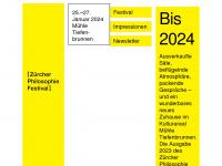 philosophiefestival.ch Webseite Vorschau