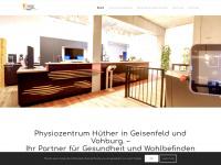 physiozentrum-huether.de Webseite Vorschau