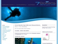 7oceans.ch Webseite Vorschau